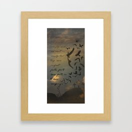 Faith is to Have Wings  Framed Art Print