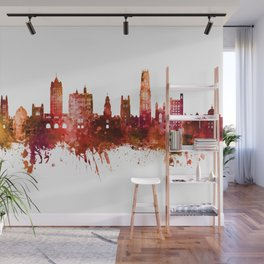 New Haven Yale Connecticut Skyline Wall Mural
