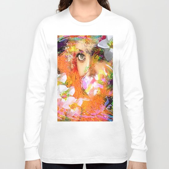 """ The queen of flowers "" Long Sleeve T-shirt"