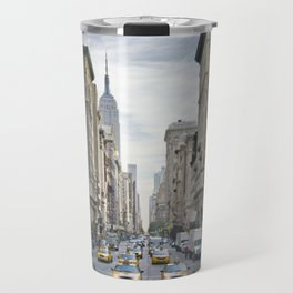 NEW YORK CITY 5th Avenue Street Scene Travel Mug
