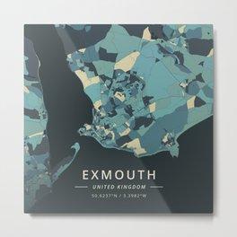 Exmouth, United Kingdom - Cream Blue Metal Print