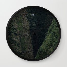 Hawaii Paradise from a Helicopter Wall Clock