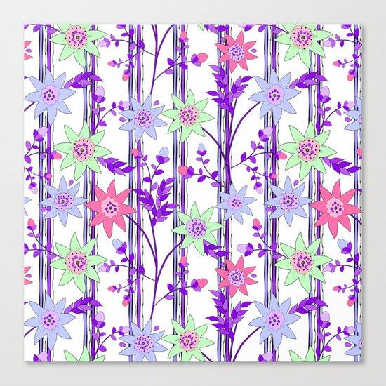 bright floral print. Canvas Print