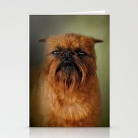 brussels Stationery Cards featuring The Brussels Griffon by Jai Johnson
