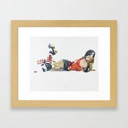 Roller Derby Girl Framed Art Print