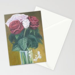 Pinks & Reds in glass - Still life 1 in a Series of 10 Stationery Cards