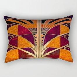 Gold Deco Rectangular Pillow