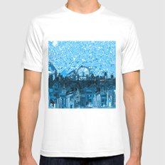 London White MEDIUM Mens Fitted Tee