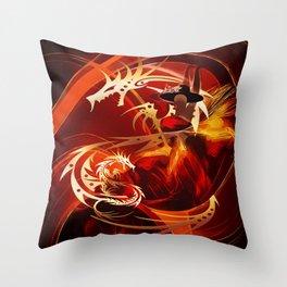 Tänzerin mit Drachen Throw Pillow