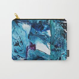 Faces in blue Carry-All Pouch