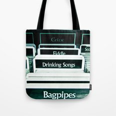Drinking Songs & Bagpipes Tote Bag