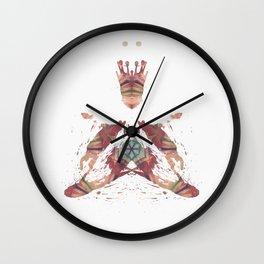 Rorschach inkblot VI Wall Clock