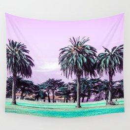 Three palm trees. Wall Tapestry