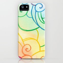 Rainbow Swirls iPhone Case