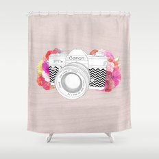 BLOOMING CAN0N Shower Curtain