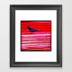 Even the birds wear masks here Framed Art Print