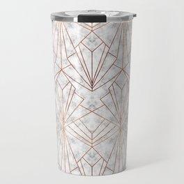 Art Deco Marble & Copper Travel Mug