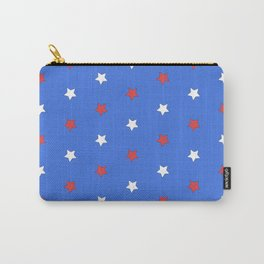 Stars on blue Carry-All Pouch
