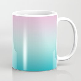 Pastel Ombre Pink Blue Teal Gradient Pattern Coffee Mug