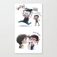 jojo Canvas Prints featuring JOJO NOOOOO by Yiji