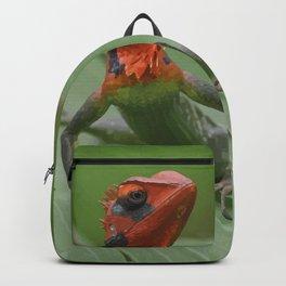 Gecko iguana Red Head Backpack