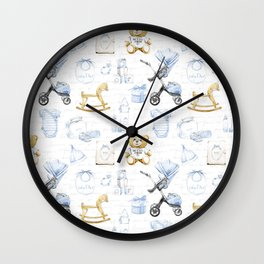 Baby Boy Fashion Pattern Wall Clock