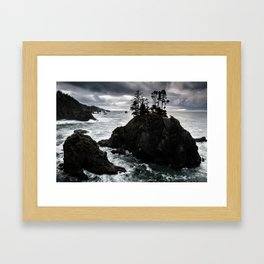 Stormy Weather Along Samuel H. Boardman Corridor Framed Art Print
