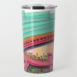 City Sky Cave Architectural Illustration 70 Travel Mug