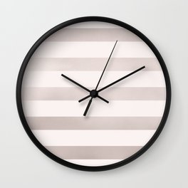 Rose Gold and Pink Stripes Pattern Wall Clock
