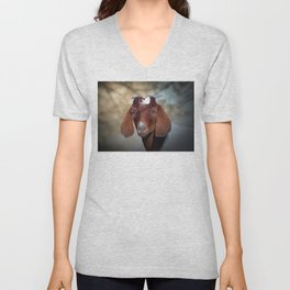 The Young Goat Unisex V-Neck