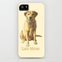Dog Mom Yellow Labrador Retriever iPhone Case