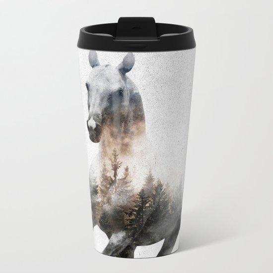 Galloping Horse Metal Travel Mug