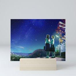 Photos KAGAYA Stars Schoolgirl Two Fantasy Sky Night Schoolgirls 2 night time Mini Art Print