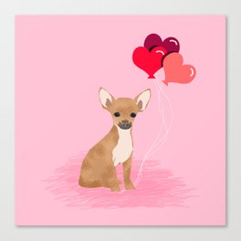Chihuahua valentines day love hearts dog breed gifts cute chiwawa balloons pure breed Canvas Print