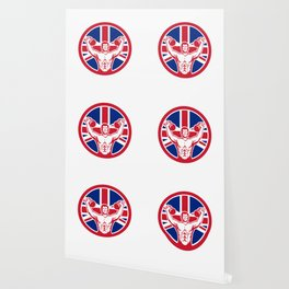 British Physical Fitness Union Jack Flag Icon Wallpaper
