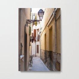Street in Palma de Mallorca old town- Travel photography -Fine art print Metal Print