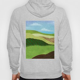 Fields And Farms Under A Summer Sky Hoody