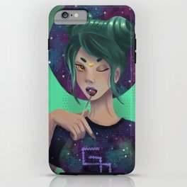 Nebulosa Girl iPhone Case