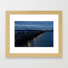 White Rock Pier at Blue Hour Framed Art Print