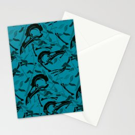 Blue Decay Stationery Cards