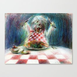 Cooking for the Family Dog Canvas Print