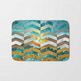 Golden Lapas -Wide Chevrons Bath Mat
