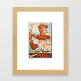 Buster Posey Giants Framed Art Print