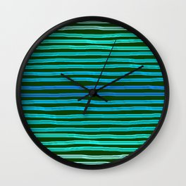 Forget Monday Blues with stripes! Wall Clock