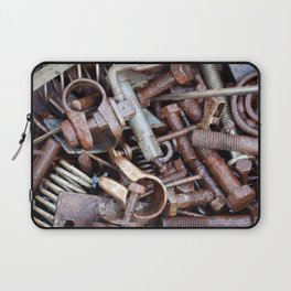 old rustry screw,nuts and bolt Laptop Sleeve