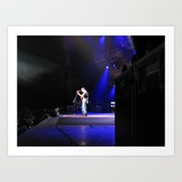dave matthews Art Prints featuring Dave Matthews Band - Virginia Beach by Hum Chee