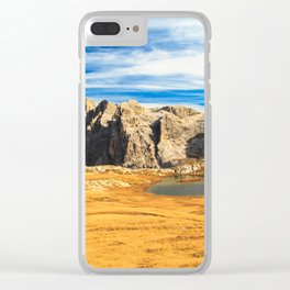 lakes in the dolomites Clear iPhone Case