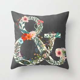 Chalkboard Woodland Ampersand-Whimsical Decor for Kids and Adults Throw Pillow