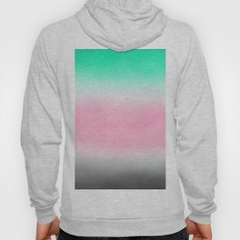 Sorbet Mist - misty scene on mint green, smokey grey & rose pink clouds Hoody