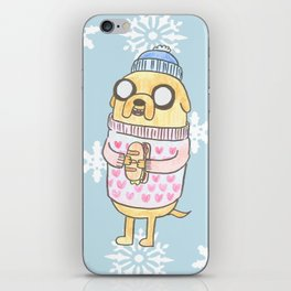 Jake in the Snow iPhone Skin